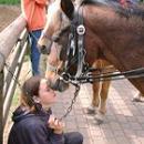 Reiterferienkind mit seinem Pferd