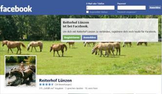 Reiterhof Lünzen Facebook Fanpage