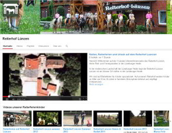Reiterhof Lünzen bei Youtube