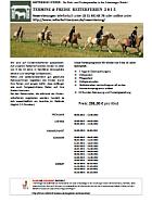 Aktuelle Termine und Preise der Reiterferien